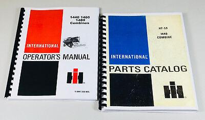 Lot International 1440 Combine Operators Parts Manuals Owners Catalog Book