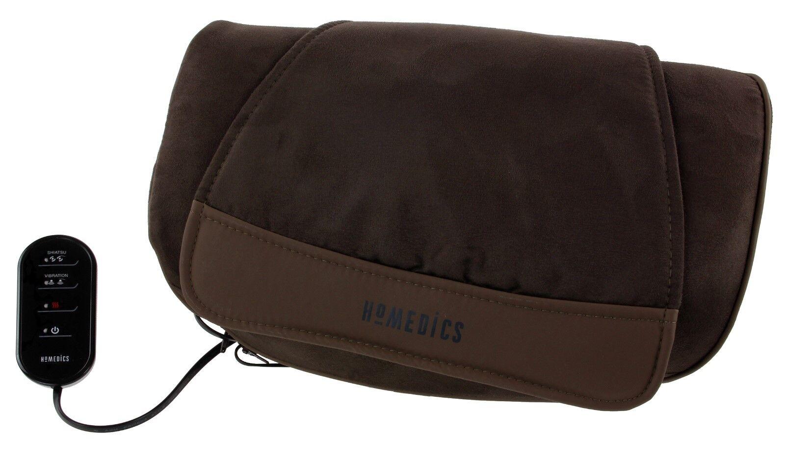 Homedics Deluxe Shiatsu, Vibration & Heat Massage Cushion Legs Back Neck Sp-39hw