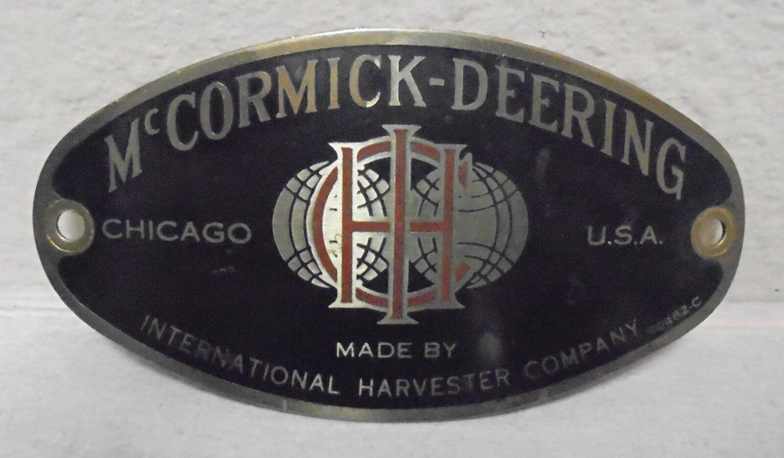 International Harvester McCormick-Deering Cream Separator Tag 10482-C
