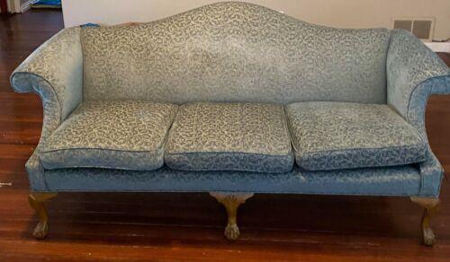 Turquoise Victorian Style Sofa