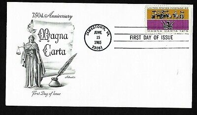#1265 5c Magna Carta - Artmaster FDC for sale  Shipping to India