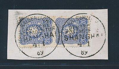 8565) DP CHINA, V 42 c (2) BRIEFSTÜCK KDPAG SHANGHAI, PRACHT