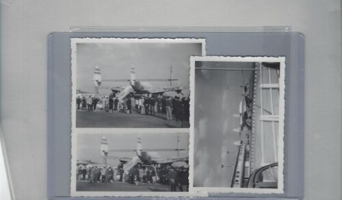 1950s TWA/Air France airlines connies at airports lot of  3  original photos