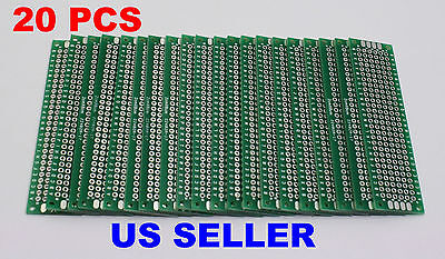 20 Pcs 2x8cm Pcb Double-sided Diy Proto Circuit Board Breadboard Pcb Universal