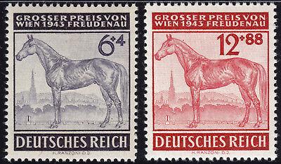 Deutsches Reich 857/58 ** Großer Preis von Wien 1943, postfrisch
