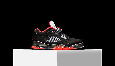 8f38c0553abc 2016 Nike Air Jordan 5 V Low Alternate 90 Retro Gs SZ 3.5Y Black Red
