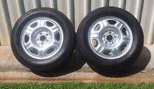 """2 X 16"""" 5 STUD TRAILER WHEELS AND TYRES 5X114.3 mm PCD ford hubs Kallangur Pine Rivers Area Preview"""