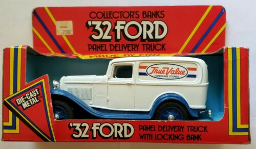 Ertl 32 Ford Panel Delivery Truck Die-cast Metal Collector Bank (True Value)