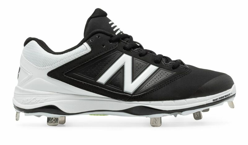 New Balance Low-Cut 4040v1 Metal Softball Cleat Womens Shoes Black with White