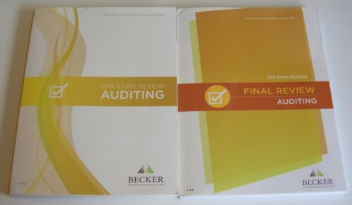 Becker CPA Auditing (AUD) Exam Review & Final Review V3.4 VG