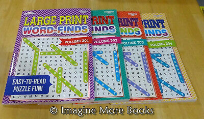 4 NEW Large Print Word-Finds Vol 301-304 ~Kappa Word Search~ 95 Puzzles per Vol