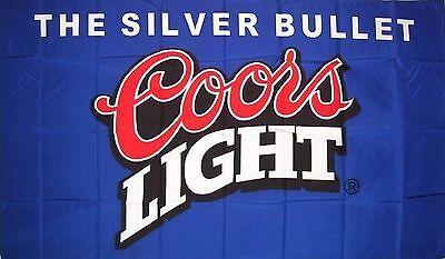 Coors Light Blue Beer Flag 3' X 5' Deluxe Indoor Outdoor Banner