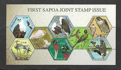 Swaziland 2004 SAPOA Bird sheet