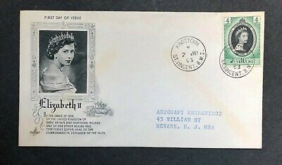 St.Vincent 1953 Coronation FDC First Day cover