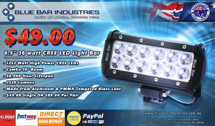 36w cree led light bar other parts accessories gumtree pair of 65 36 watt cree led light bar mozeypictures Choice Image