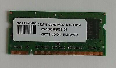 RAM Memory 1GB 200-pin SODIMM 128MX64DDR2 PC-4200 Non ECC
