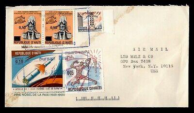 DR WHO 1990 HAITI PAIR AIRMAIL TO USA  g07183