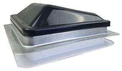 "Ventline 14"" RV Roof vent SMOKE complete unit garnish Lid screen V20923P-29"