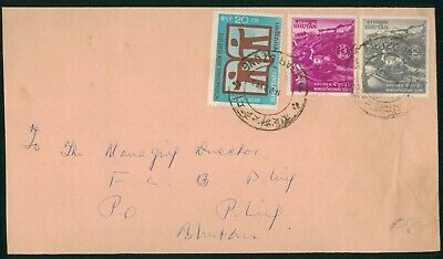 Mayfairstamps Bhutan Tri Frank Commercial Cover wwo90493