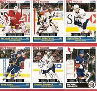 2011-12 Score Rookie & Traded Hockey (98 cards - 65 Hot Rookies)