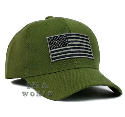 USA American hat Flag cap Tactical Operator Military Snapback Baseball cap-Olive