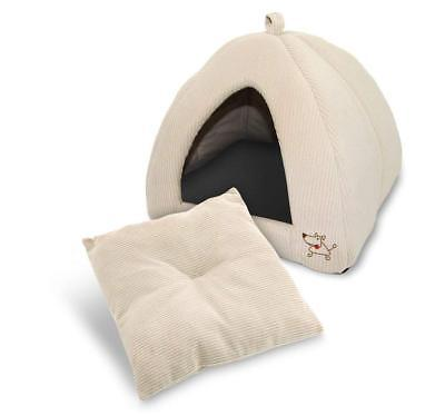 Best Pet Supplies Inc. Pet Cave Tent Bed for Dogs and Cats Corduroy Beige