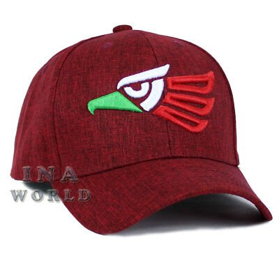 Mexican hat Mexico Aguila Eagle Snapback Curved bill Baseball cap- Maroon