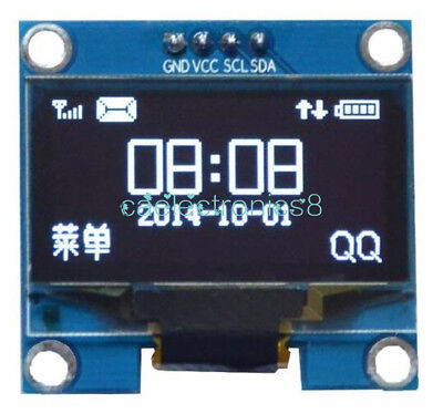 1.3 White Oled Lcd Display Module Iic I2c Interface 128x64 3-5v For Arduino Ca