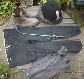 Adult Horse Riding Equipment - Riding Hat/Helmet, jodhpurs, boots etc