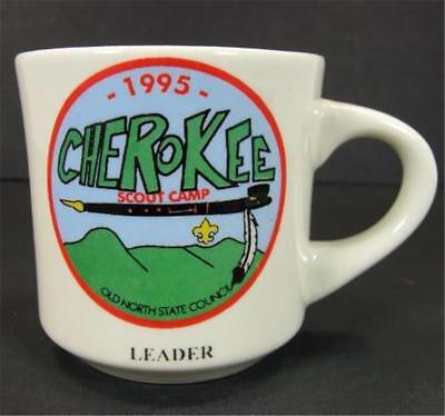 1995 Boy Scouts Cherokee Camp Leader 11oz Coffee Mug Old North State Council BSA