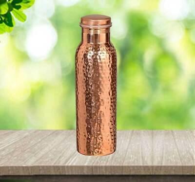 Health Hammered Ayurveda Healing Copper Bottle Drink More Water 900 ml