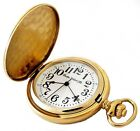 Gold Plated Modern Pocket Watches with Large Numerals