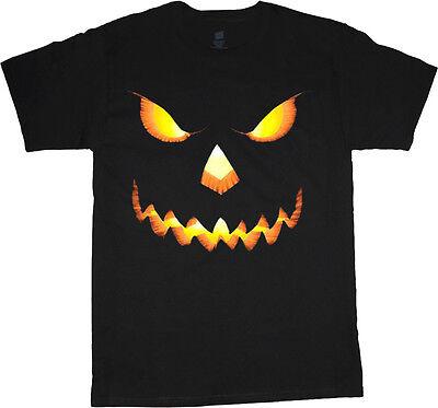 Scary Halloween T Shirt Designs (Men's t-shirt Halloween design jack o lantern pumpkin scary tee shirt)