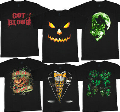 Halloween t-shirts for men scary decals funny easy costume ideas design tee - Design For Halloween