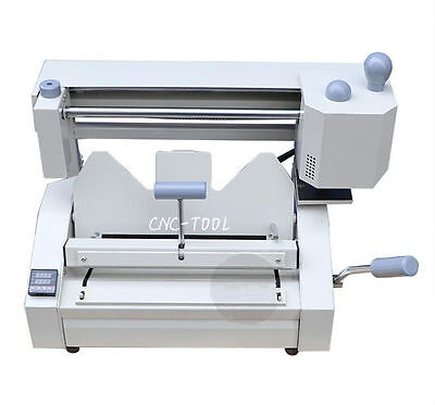 A4 0.1-40mm Wireless Binding Machine Manual Hot Melt Glue Book Binder 220v