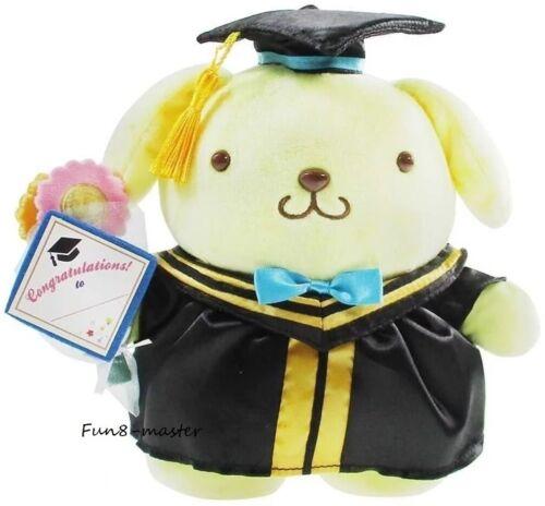 "8"" Sanrio Pompompurin Graduation Plush Figure in Cap Gown Stuffed Toy Grad Gift"