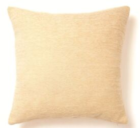BHS Cream Coloured Square Shaped Chenille Cushion Cover-50cmx50cm.
