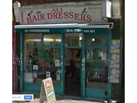 Barber hairdresser required for asian hair, shop in Barking, Ilford Lane job vacancy