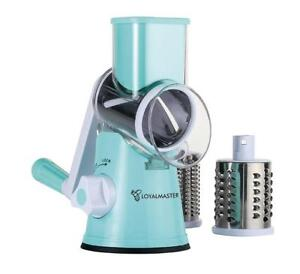 NEW Rotary Grater Drum Slicer Shredder Grinder - Speed Round Mandoline for Vegetable