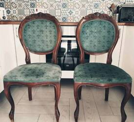 X2 mahogany chairs