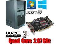 Gaming PC, Intel QUAD CORE 2.67GHz, HD5750 GDDR5 , 4GB Ram, 320GB HD