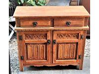 Old Charm compact oak sideboard