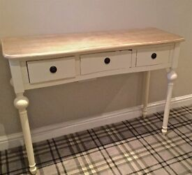 Shabby Chic - 3 Drawer Hallway Console Table £100 ONO