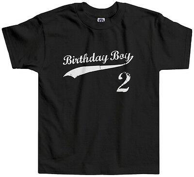 2nd Birthday Shirt (Threadrock Kids Birthday Boy 2 year old Toddler T-shirt happy 2nd)