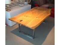 Brand New Dining Table Solid OAK Natural Colour Finish OIL 180cm x 120cm 8 seats 1-3 days DELIVERY