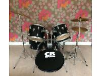 Drum kit - full CB drum kit in black. Great condition.