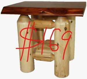 Clearance - Handcrafted Cedar Wood Log chairs benches gliders furniture - No Rain Check.