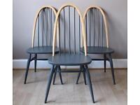 Stunning Vintage ERCOL Painted Chairs