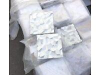 Wall Tiles, White Concrete 3D matt - interior or exterior walls