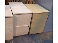 Free To Collectors - Desk Height & Underdesk Pedestal Storage Filing Drawer Units